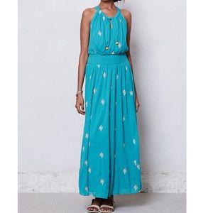 Anthropologie Floreat Skyscape Cotton Maxi Dress